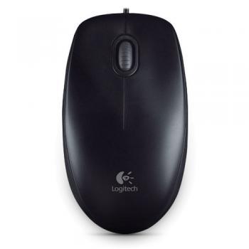 Chuột có dây Logitech M100R ( Màu đen ) chính hãng